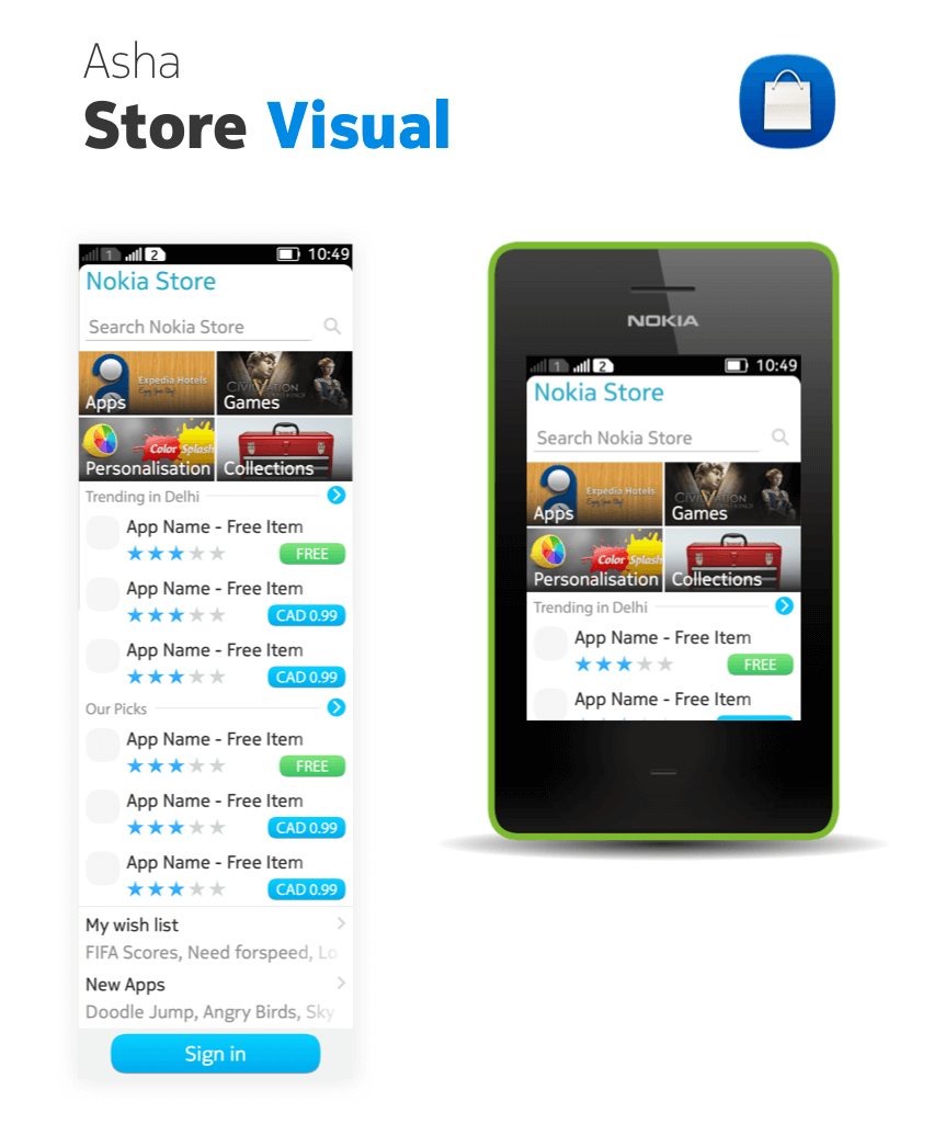 app store visual